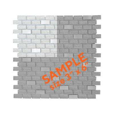 Crystal Ice 3 in. x 6 in. x 8 mm Glass Mosaic Tile Sample