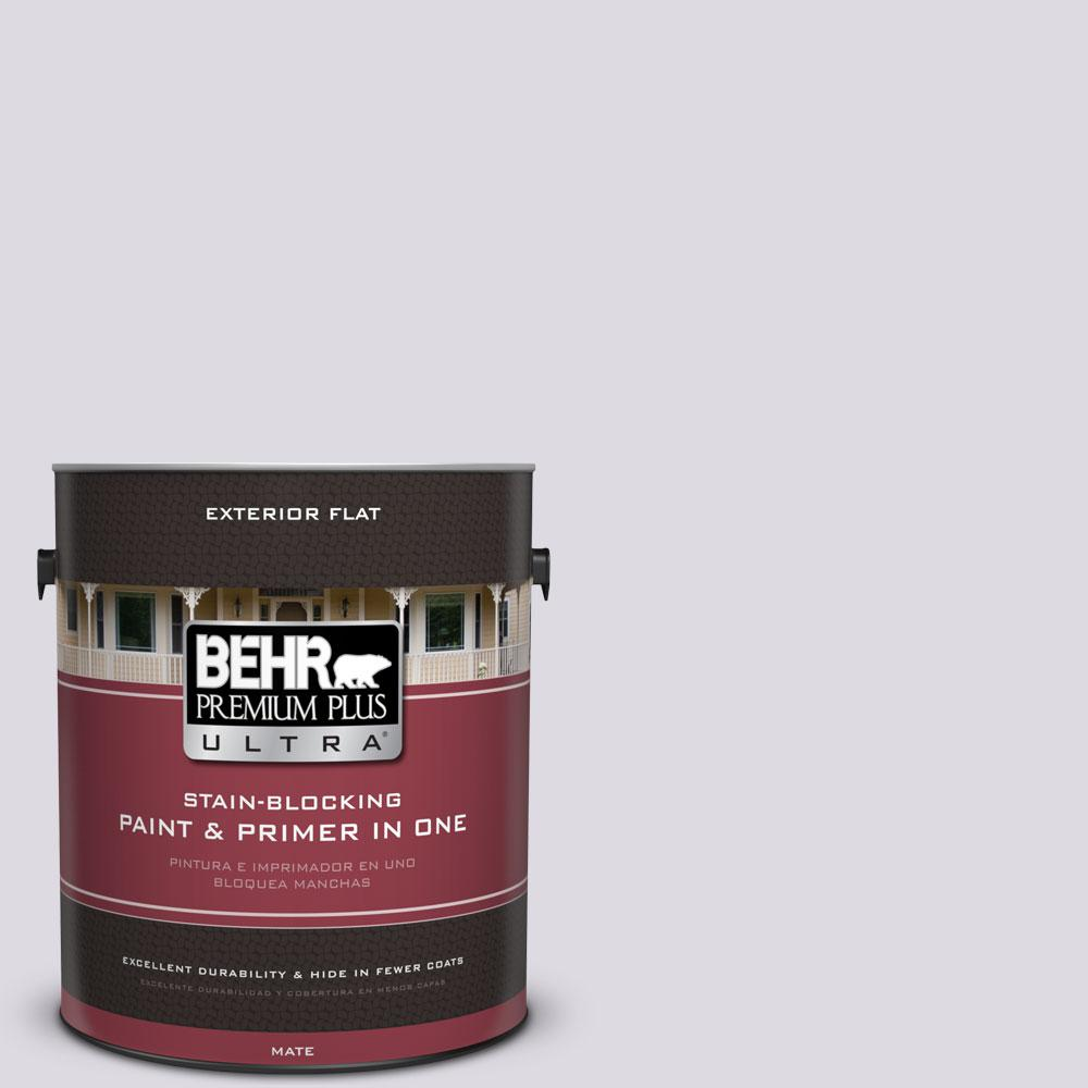 BEHR Premium Plus Ultra 1-gal. #PR-W1 Mystical Mist Flat Exterior Paint