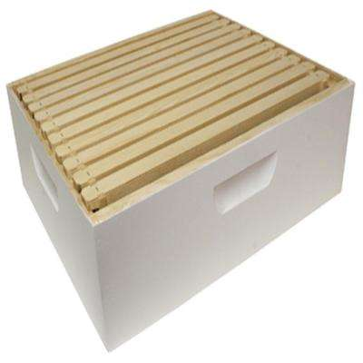 16.25 in. x 19.875 in. x 6.625 in. Assembled Medium Hive Box with 10 Frames and Foundations
