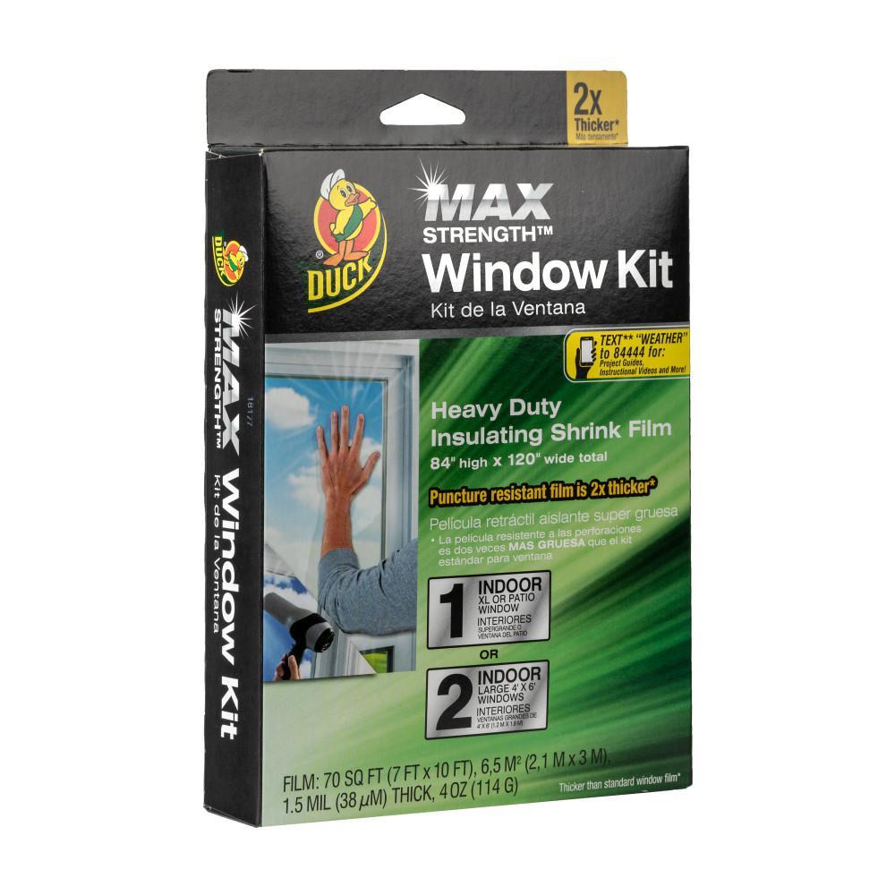 84 in. x 120 in. Crystal Clear XL Heavy Duty Patio Window Kit Shrink Film