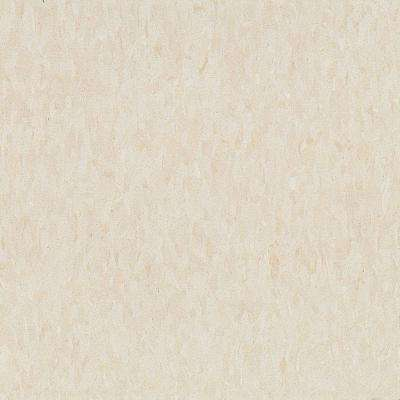 Take Home Sample - Imperial Texture VCT Antique White Standard Excelon Commercial Vinyl Tile - 6 in. x 6 in.