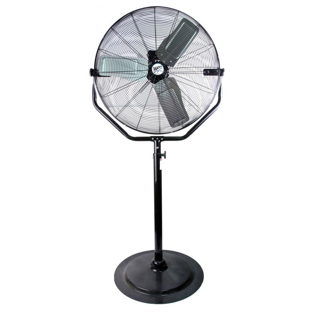Home Depot Pedestal Fans : Maxxair adjustable height in pedestal fan hvpf