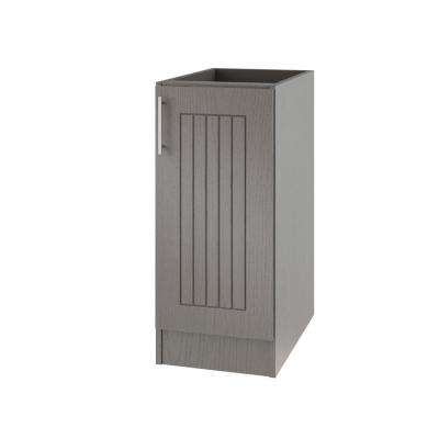 Assembled 12x34.5x24 in. Naples Island Outdoor Kitchen Base Cabinet with Full Height Doors Right in Rustic Gray