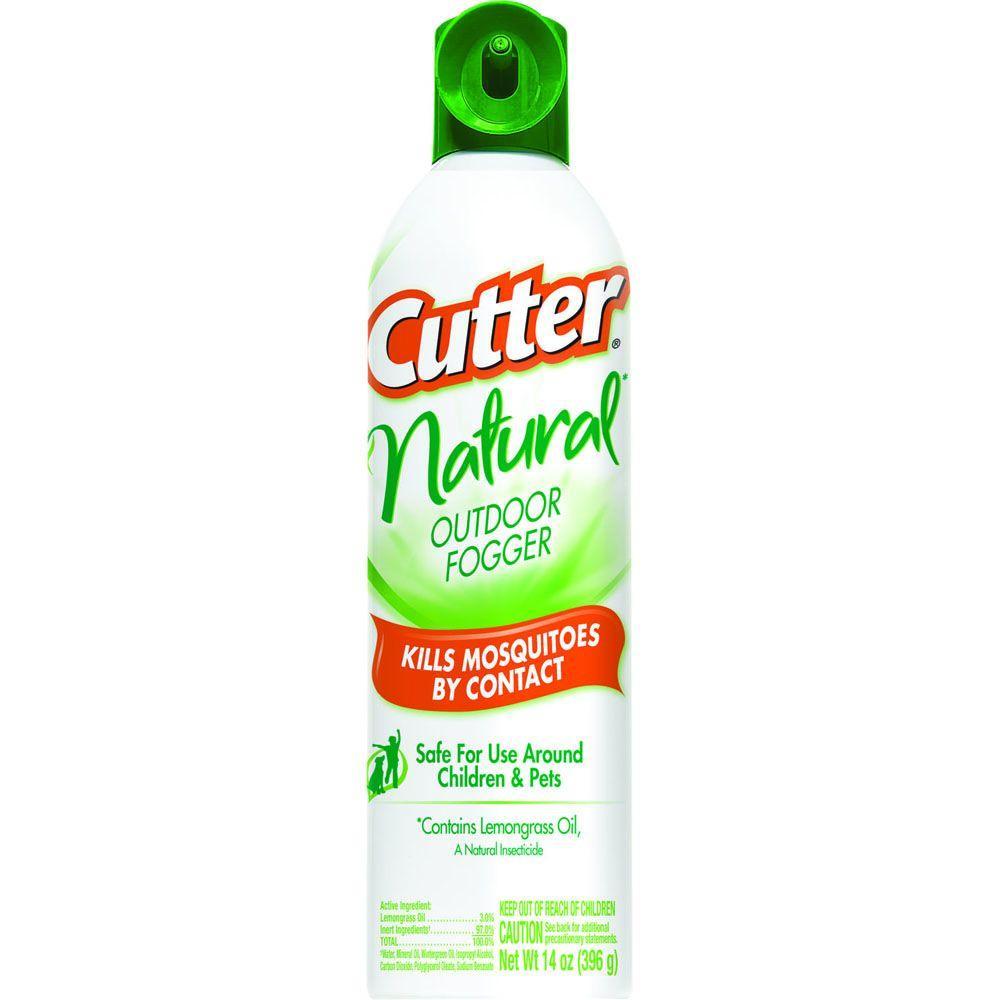 Backyard Mosquito Fogger: Cutter Natural 14 Oz. Aerosol Outdoor Fogger Spray-HG