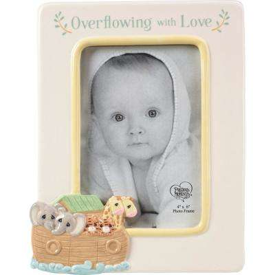4 in. x 6 in. Multi Colored Gloss Ceramic Noah's Ark Picture Frame