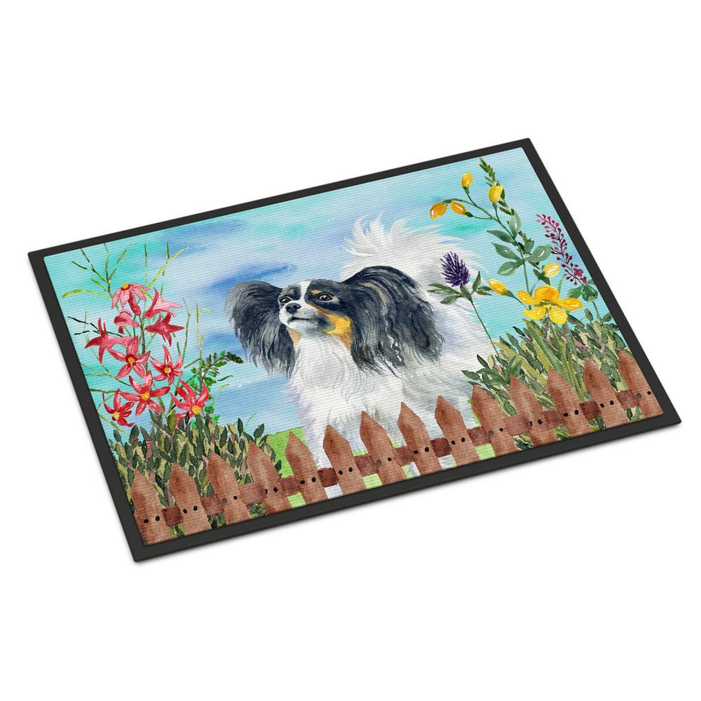 Carolines Treasures Shih Tzu Spring Doormat 18 x 27 Multicolor