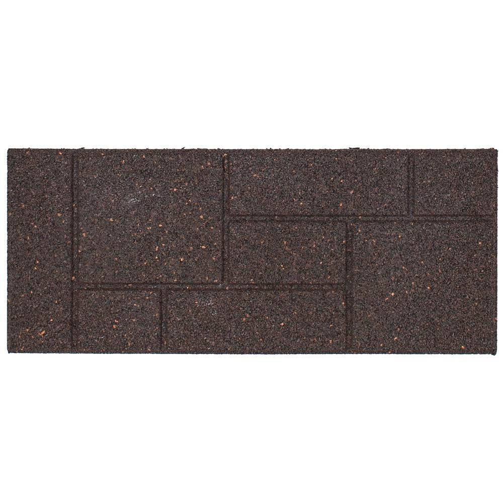 Envirotile Cobblestone 10 in. x 24 in. Earth Stair Tread (4-Pack)