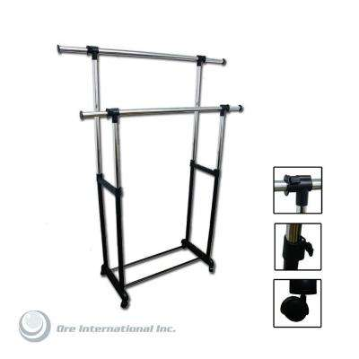 17.25 in. x 62.75 in. Double Levers Portable Wardrobe Clothes Rack