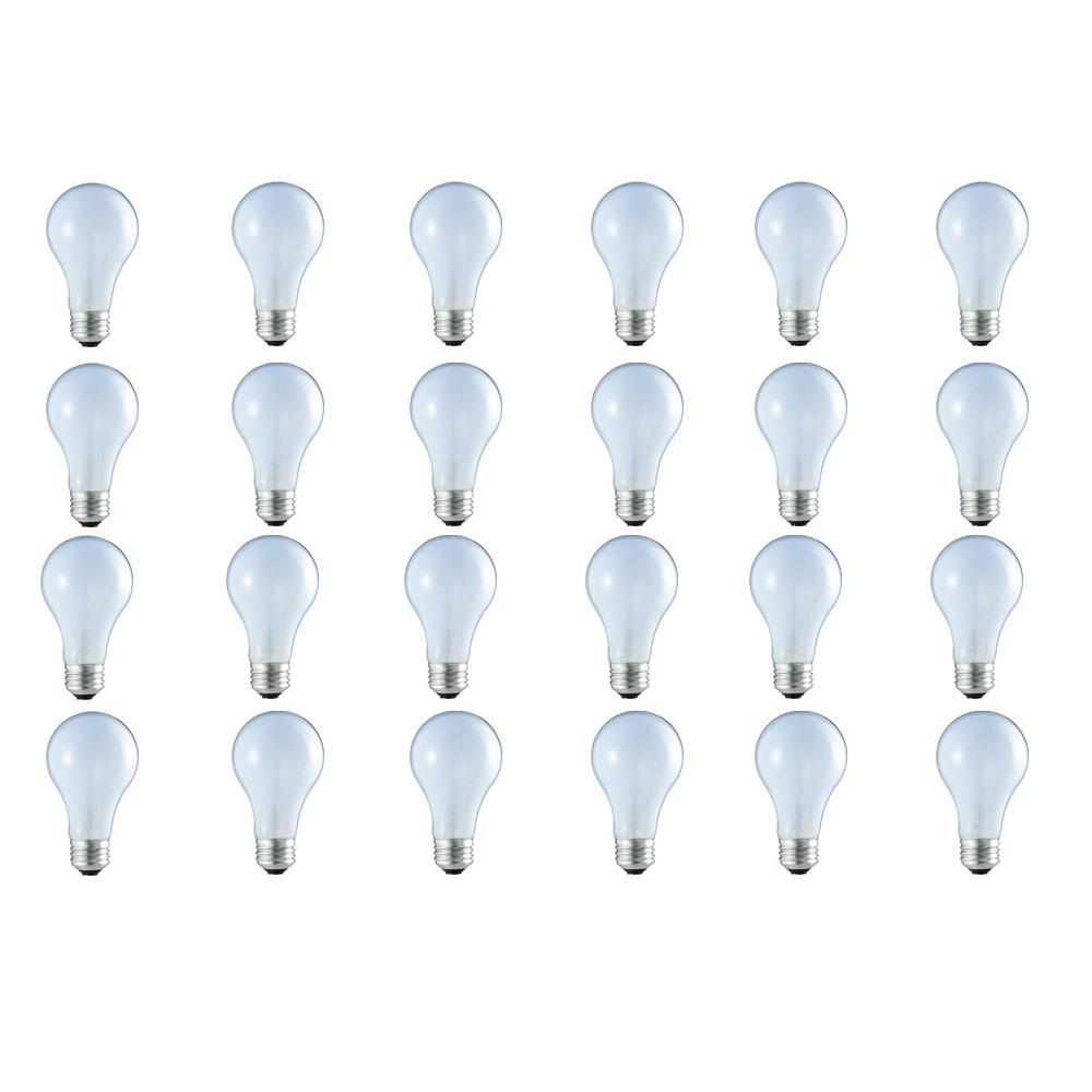 60-Watt Equivalent A19 Dimmable Eco Incandescent Light Bulb (Halogen) Natural Daylight (2930K) (24-Pack)