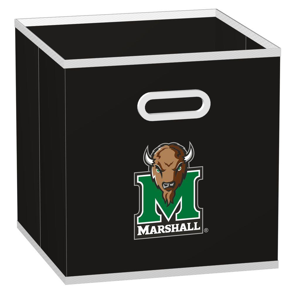 MyOwnersBox College STOREITS Marshall University 10-1/2 in. W x 10-1/2 in. H x 11 in. D Black Fabric Storage Drawer