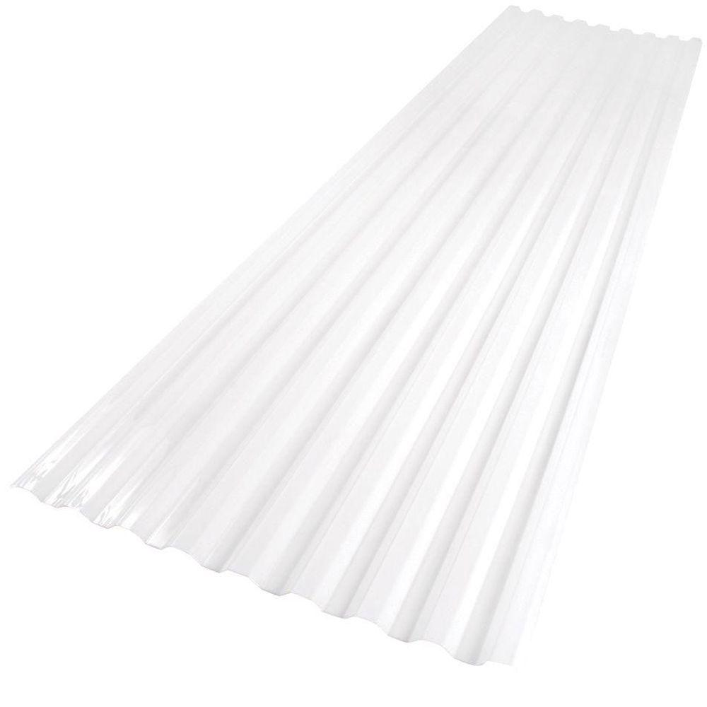 Suntuf 26 in. x 6 ft. White Opal Polycarbonate Roof Panel ...