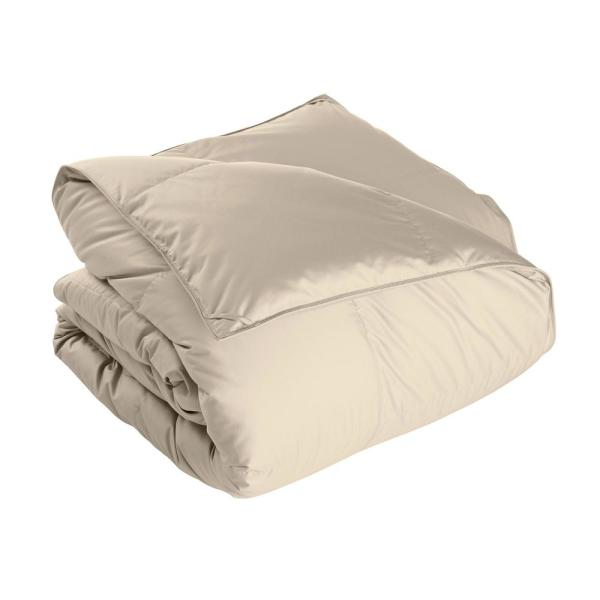 The Company Store White Bay Extra Warmth Alabaster Queen Down Comforter