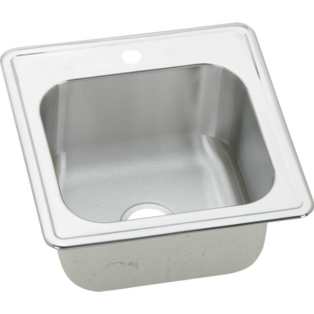 Elkay Gourmet Stainless Steel Kitchen Sink  Hole Size