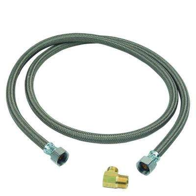 1/2 in. FIP x 3/8 in. Compression x 60 in. Braided Polymer Dishwasher Connector with 3/8 in. Compression Elbow