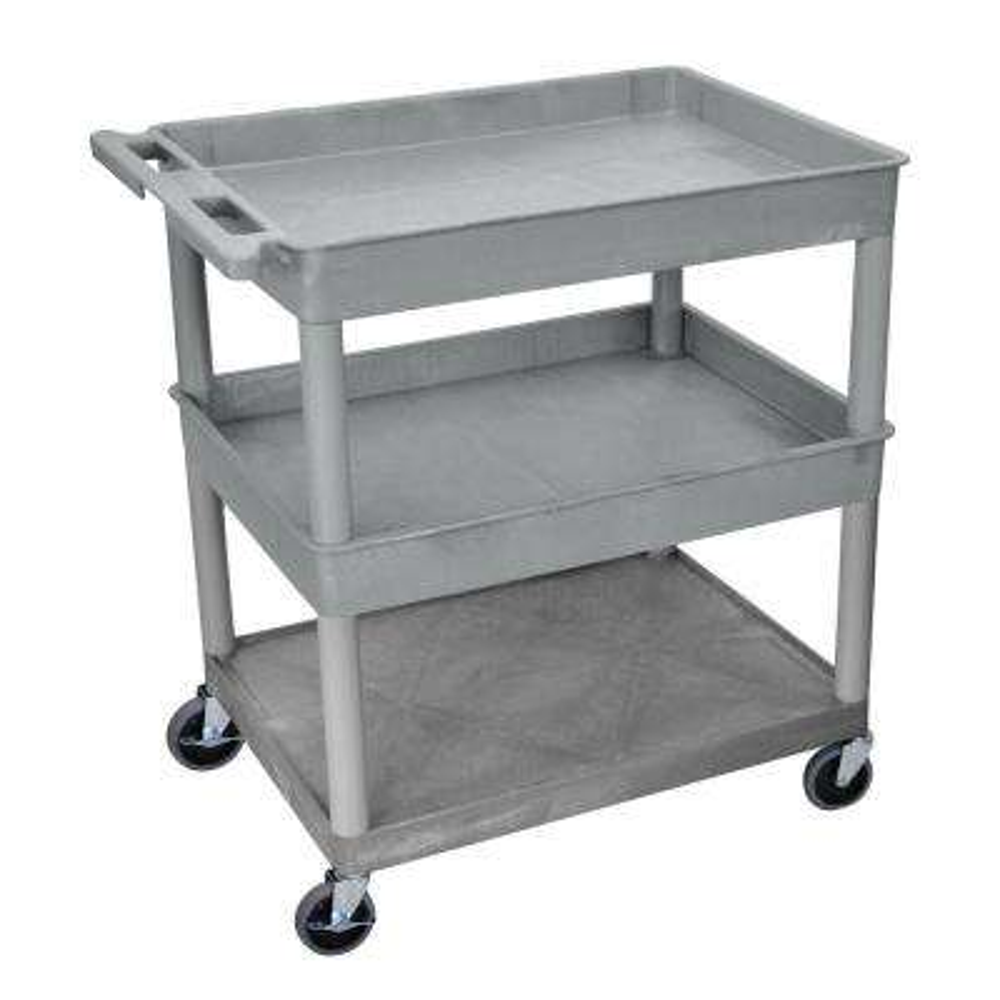 TC 32 in. 3-Shelf Utility Cart in Gray
