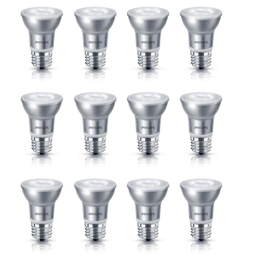 50-Watt Equivalent PAR16 Dimmable LED Light Bulb Glass Bright White (12-Pack)