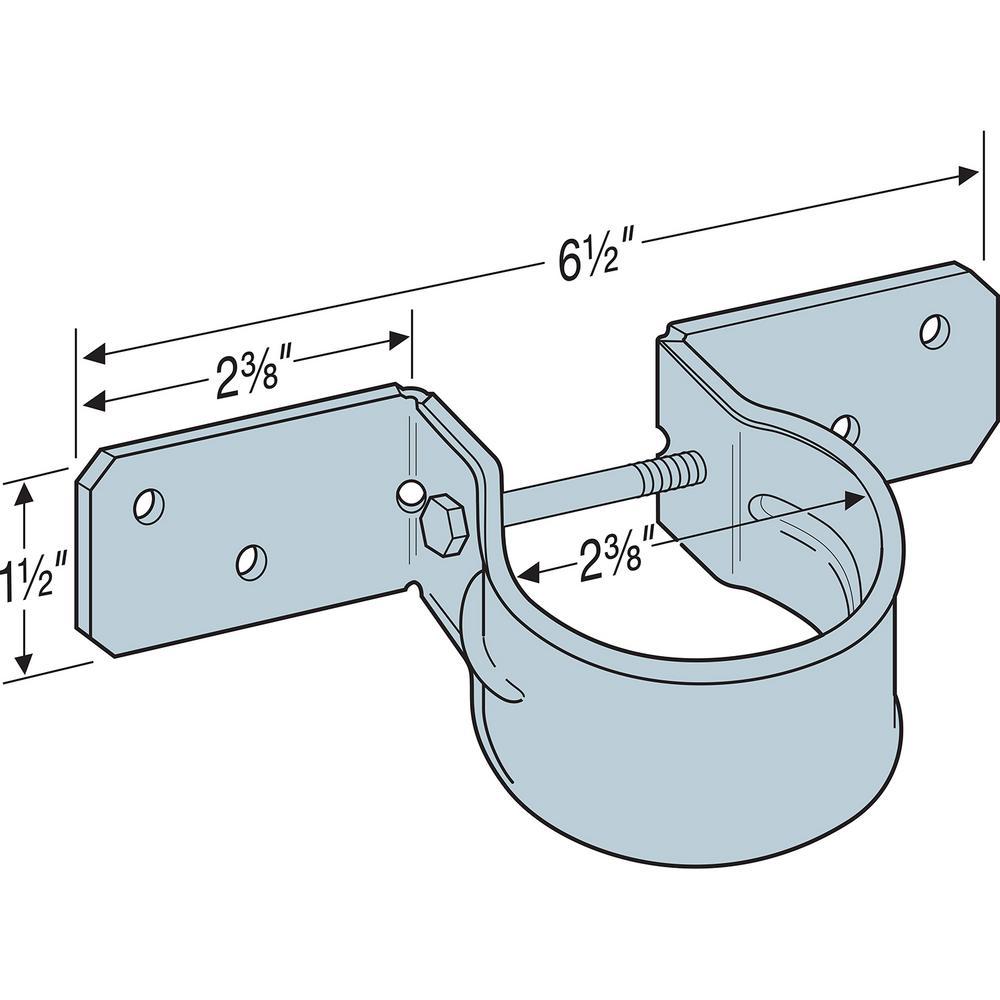 50 Count Simpson Strong-Tie PGT2-R Pipe Grip Tie