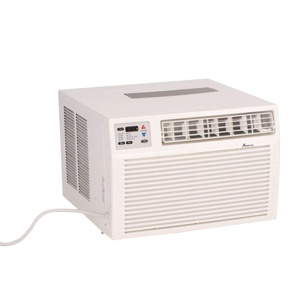 A h heating air conditioning service - Amana 9 000 Btu R 410a Window Heat Pump Air Conditioner With 3 5 Kw Electric Heat