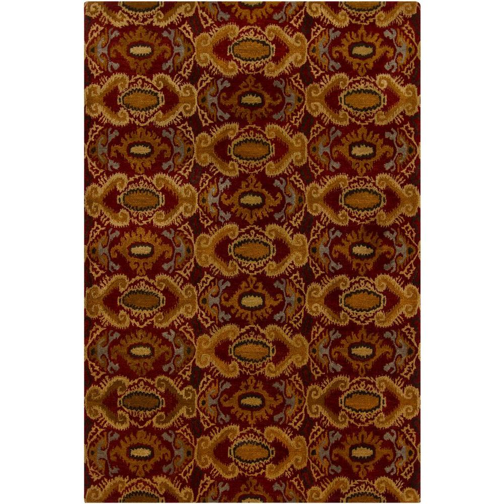 Chandra Rupec Maroon Brown Gold Black Grey 5 Ft X 8