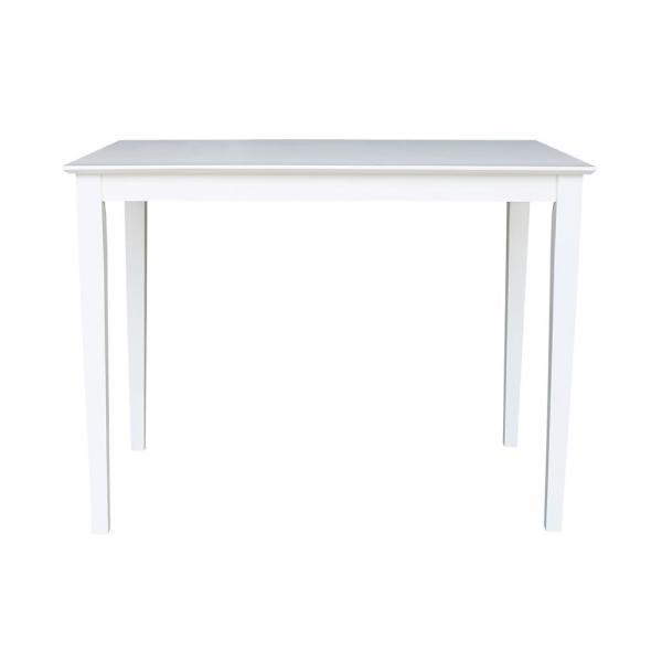 International Concepts 30 in. x 48 in. Pure White Shaker Counter-Height