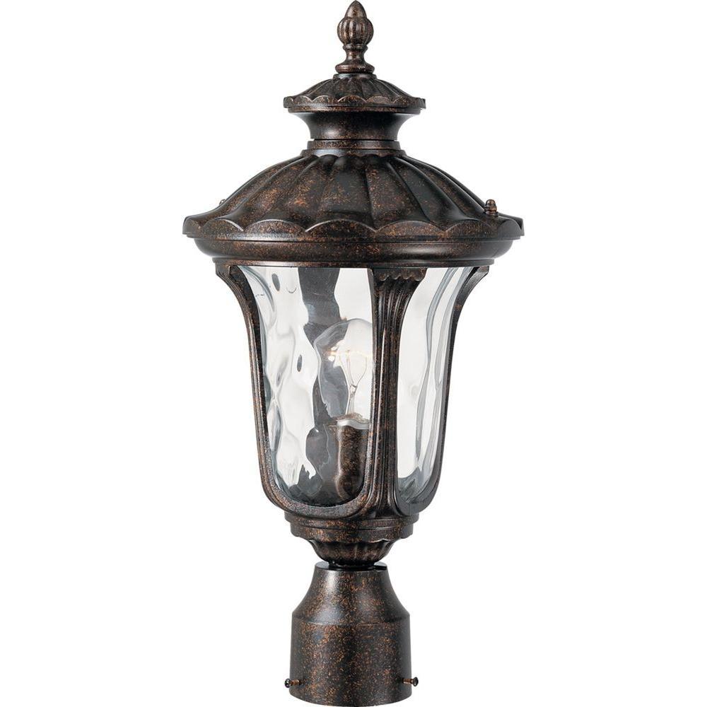 1-Light Vintage Bronze Outdoor Post Light
