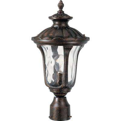 1-Light Vintage Bronze Outdoor Post Light