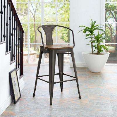 Arms Metal Full Back Bar Stools Kitchen Dining Room