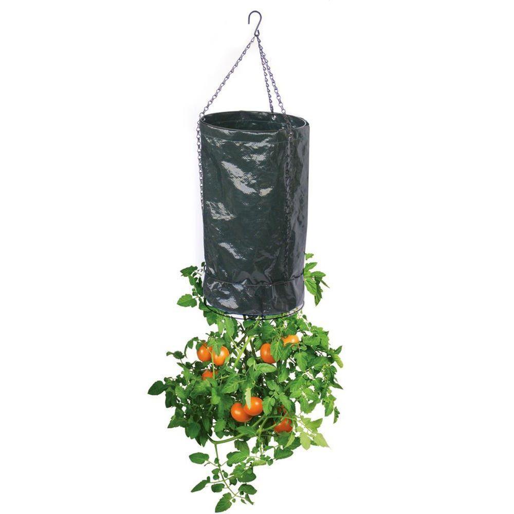 Upside Down 11 in. Dia Black Polyethylene Fabric Tomato Planter (3-Pack)