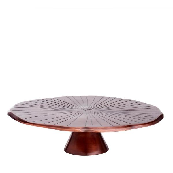 """Old Dutch 12-1/2 in. D Antique Copper """"Lily Pad"""" Cake Stand"""