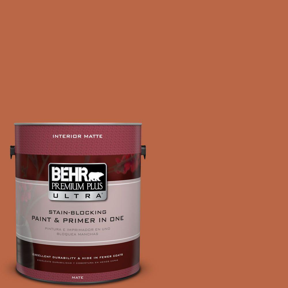 1 gal. #HDC-FL15-01 Pumpkin Drizzle Matte Interior Paint and Primer in