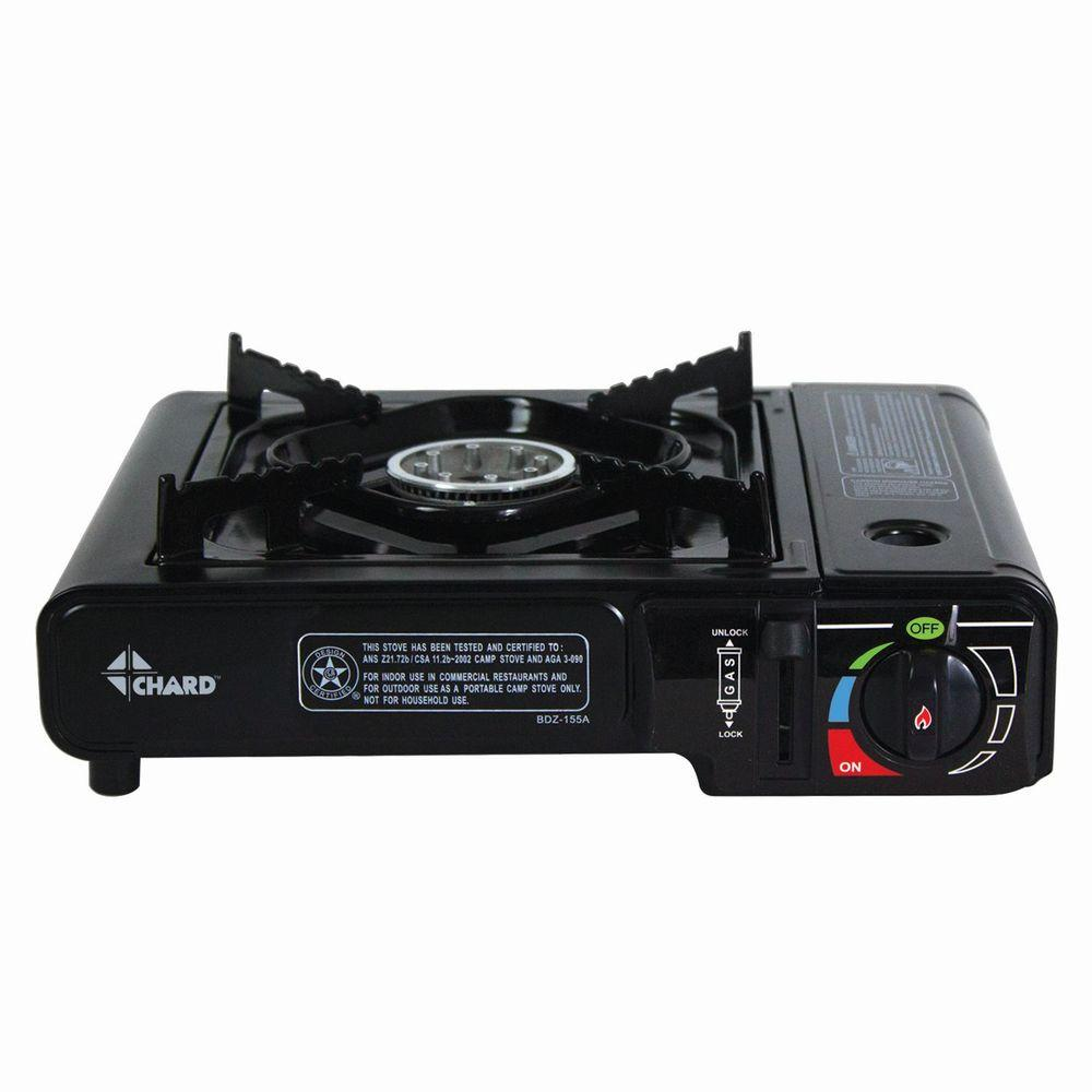 Black Built In Single Side Burner Camp Stove