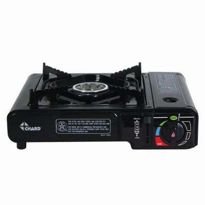 Black Built-In Single Side Burner Camp Stove