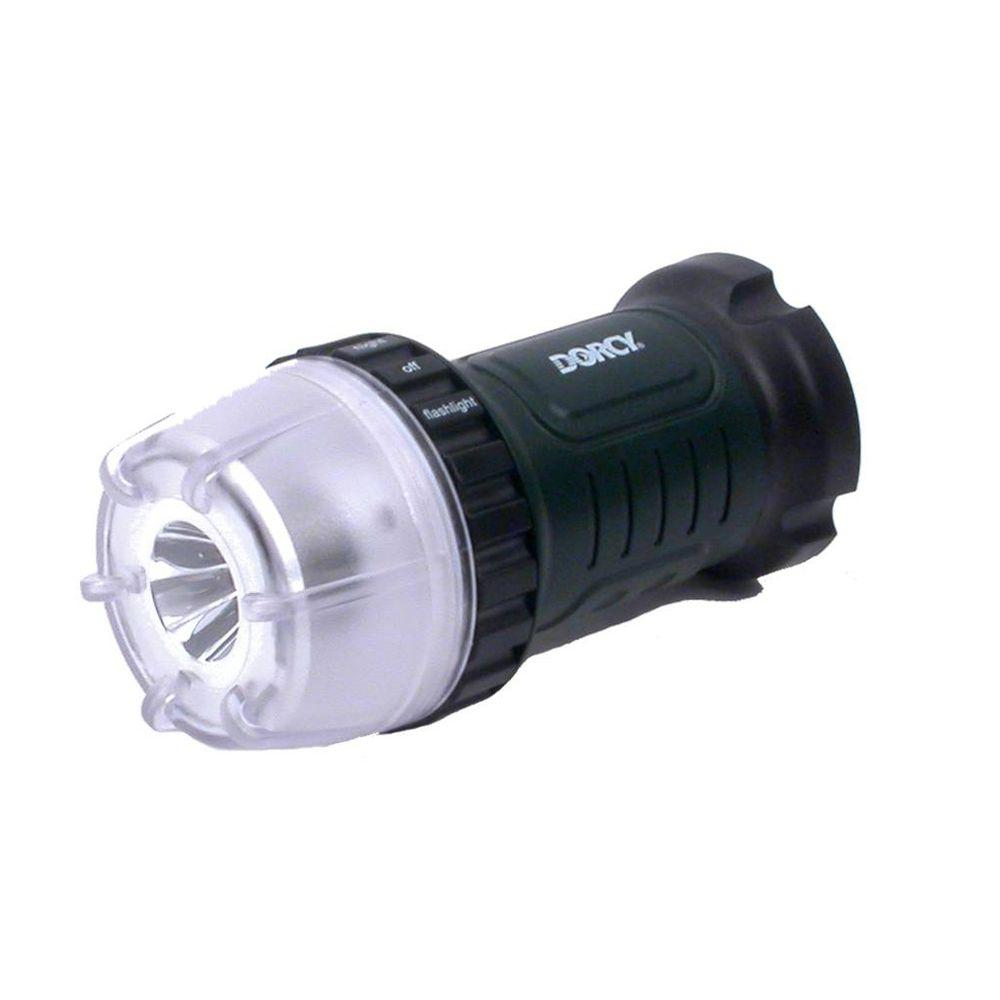 Dorcy 45 Lumen 4AA LED Dial-A-Light Flashlight with Battery