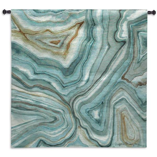 Agate Abstract II Multi color Wall Tapestry 7140-WH