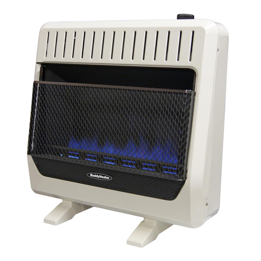 Reddy Heater 30 000 Btu Unvented Blue Flame Propane Gas Wall With Thermostat And Er