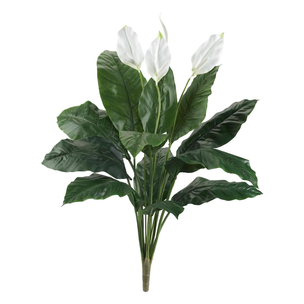 Indoor 3.5 ft. Spathiphyllum Artificial Plant (2-Set)
