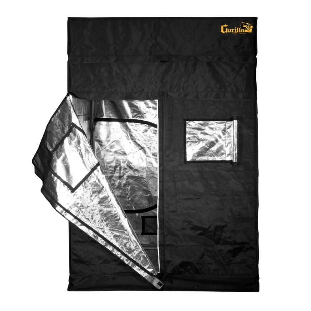 4 ft. x 4 ft. x 7 ft. Heavy Duty Black Gorilla Grow Tent
