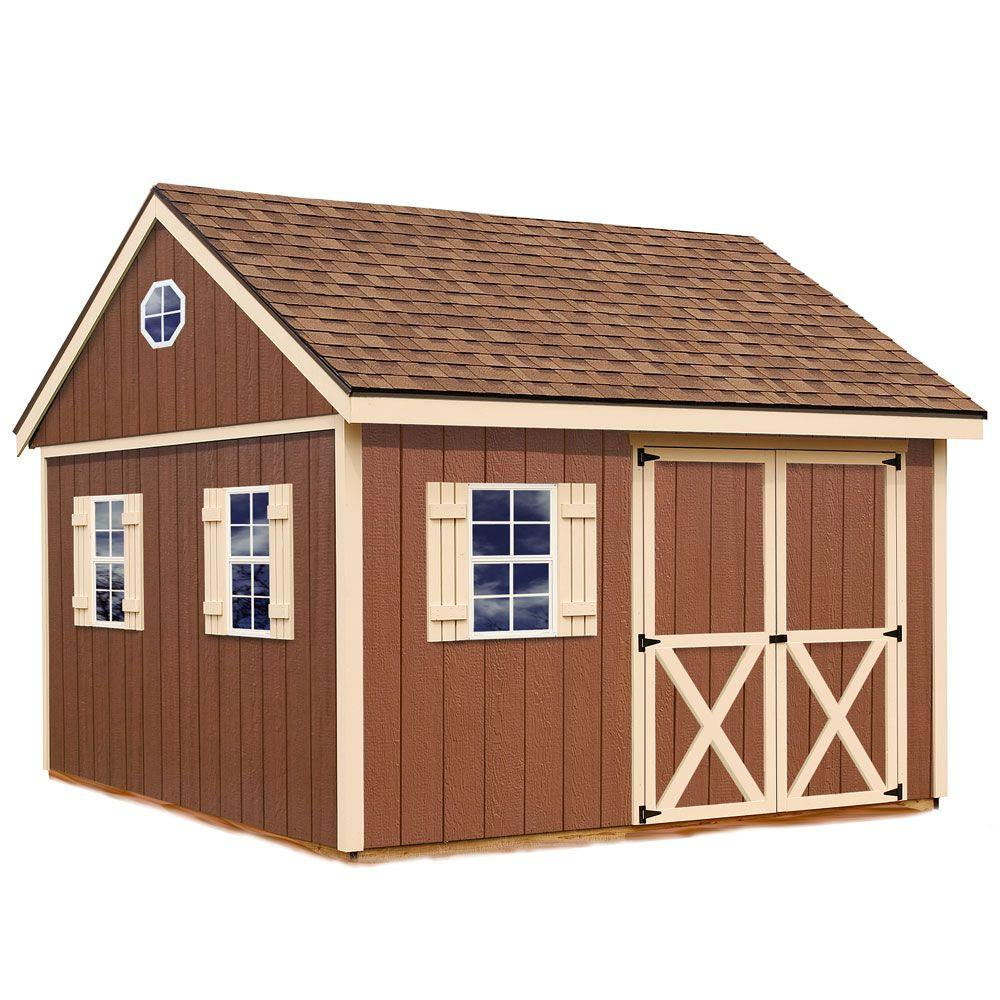 Best Barns Mansfield 12 ft. x 12 ft. Wood Storage Shed Kit with Floor