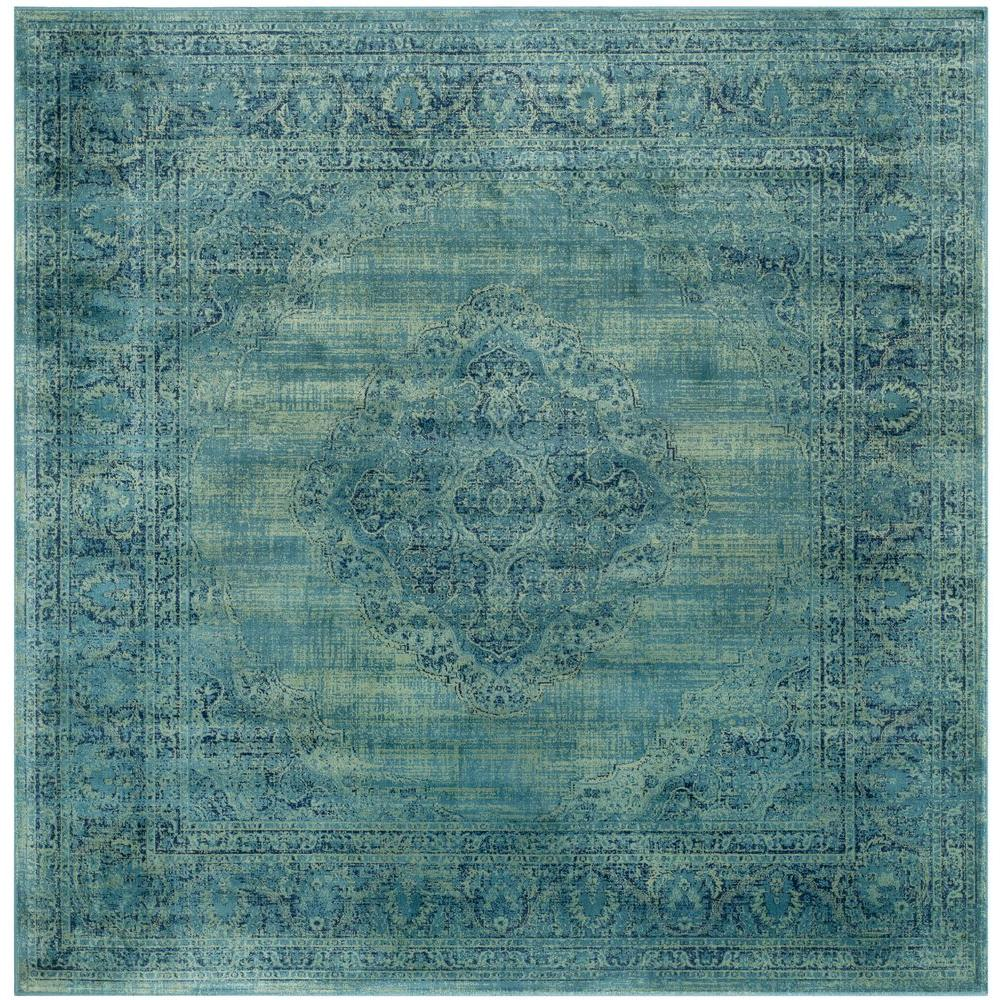 Safavieh Vintage Turquoise Multi 8 Ft X Square Area Rug