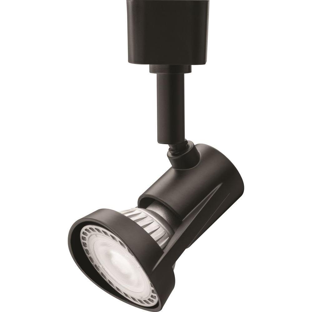 1-Light Black LED Track Lighting Head