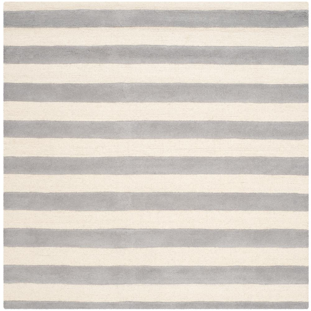 Cambridge Gray/Ivory 4 ft. x 4 ft. Square Area Rug