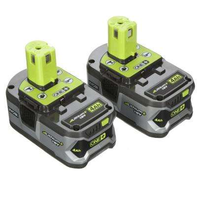 18-Volt ONE+ Lithium-Ion High Capacity Lithium+ Battery Pack 4.0Ah (2-Pack)