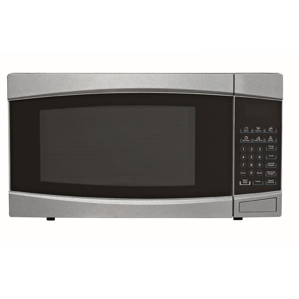 1.4 cu. ft. Countertop Microwave in Stainless Steel