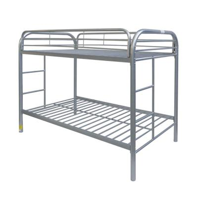 Thomas Silver Twin Over Twin Metal Kids Bunk Bed