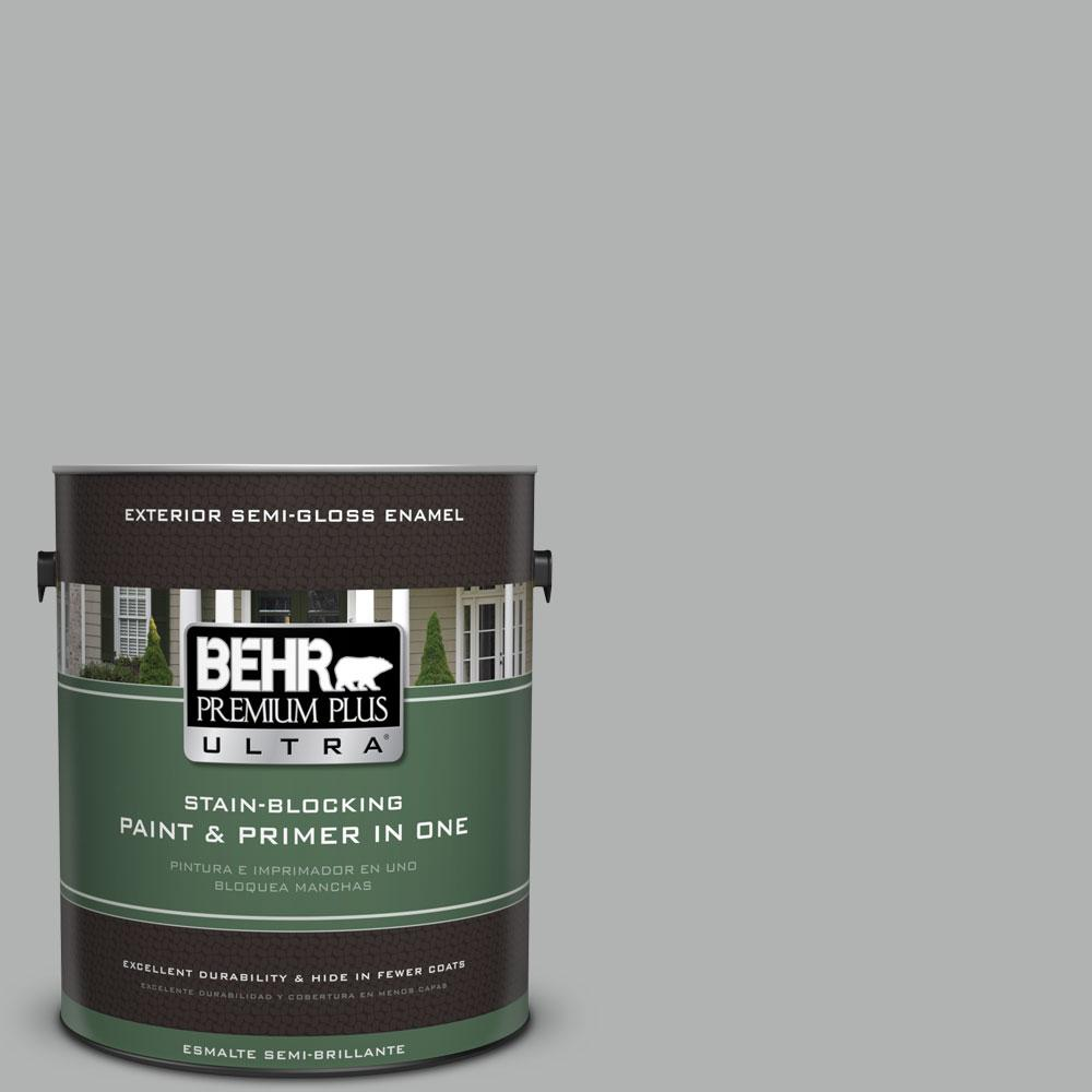 Behr Premium Plus Ultra 1 Gal 780f 4 Sparrow Semi Gloss Enamel Exterior Paint And Primer In One 585001 The Home Depot