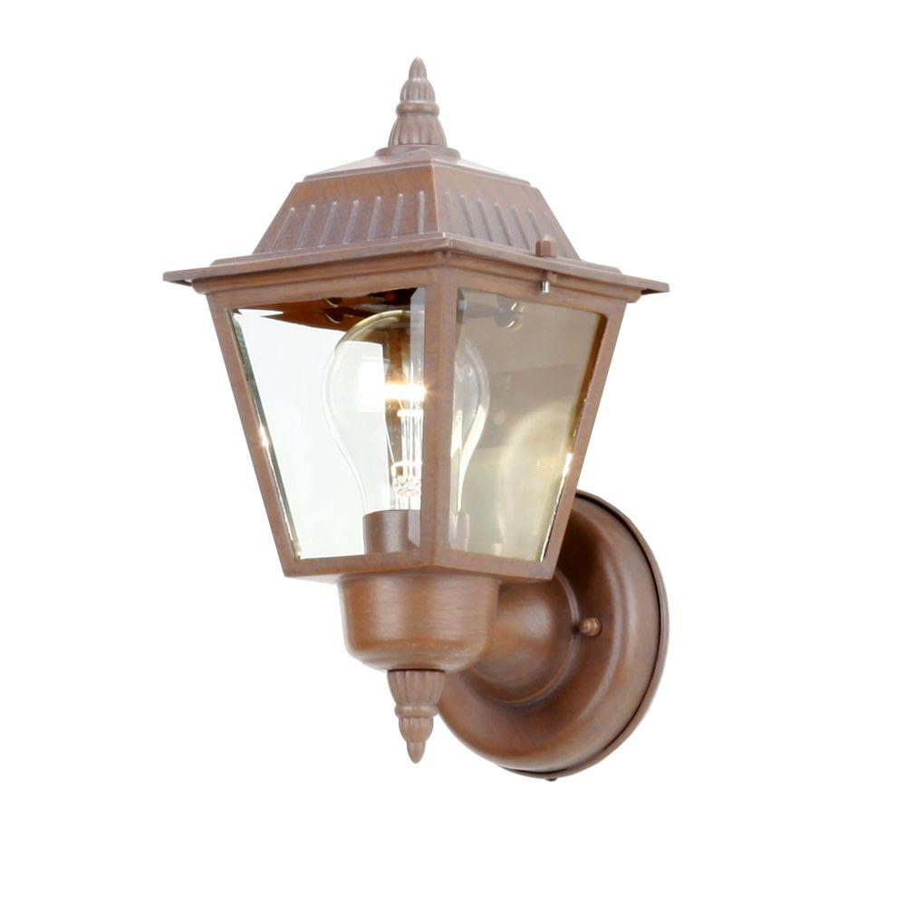 1 Light Rustic Bronze Outdoor Wall Lamp