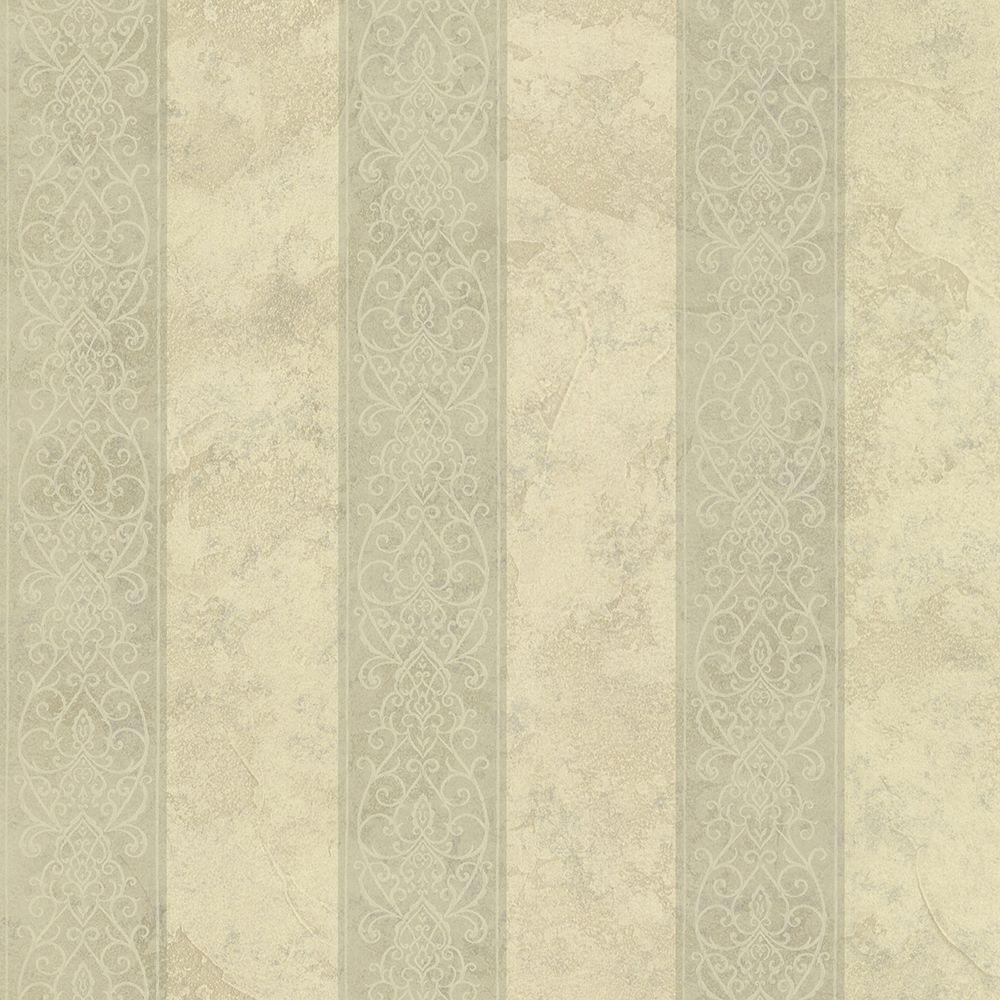 Presque Isle Sage Regal Stripe Wallpaper