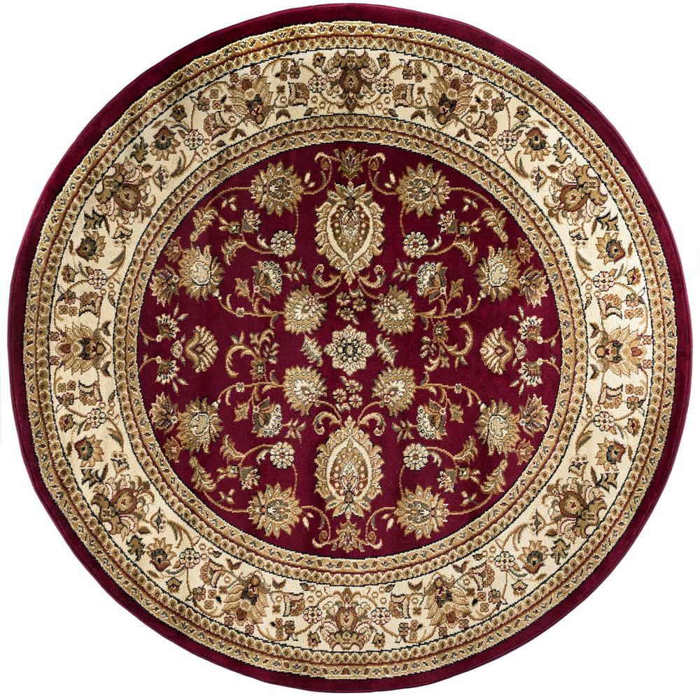 Tayse Rugs Sensation Red 7 Ft 10 In Traditional Round