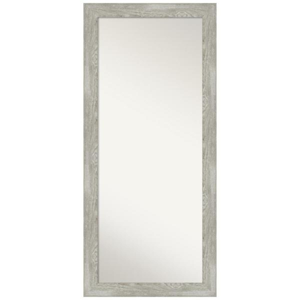 Dove 29.88 in. x 65.88 in. Grey Wash Decorative Full Length Floor / Leaner Mirror