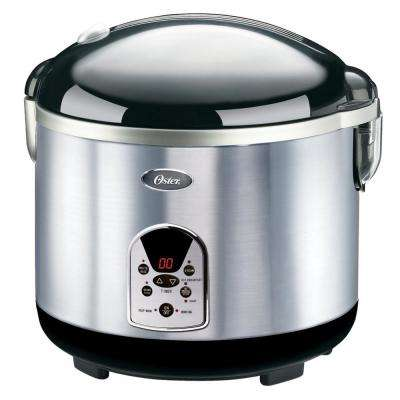 20-Cup Black/Stainless Steel Digital Rice Cooker
